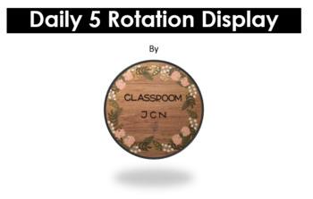 Daily 5 Rotation Display - EDITABLE