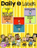 Daily 5 Rotation Labels Peanuts Theme