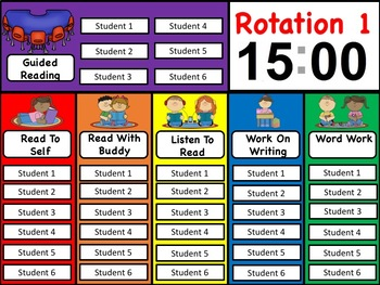 Daily 5 Rotation PowerPoint
