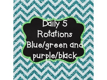 Daily 5 Rotation Signs