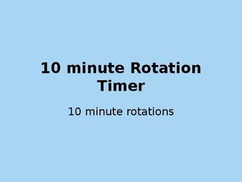 Daily 5 Rotation Timer!