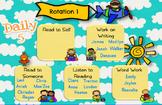 Daily 5 Rotation for SMARTBoard - Sky Theme