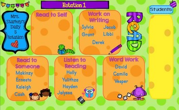 Daily 5 Rotation for SmartBoard