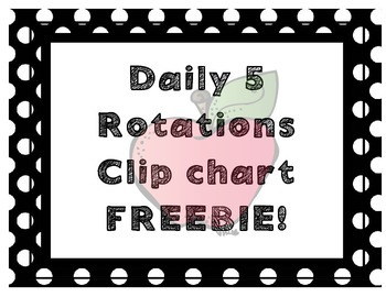 Daily 5 Rotational Clip Chart