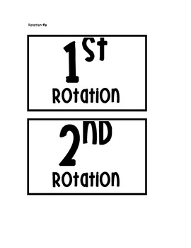 Daily 5 Rotations Board