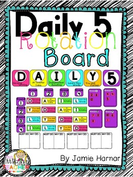 Daily 5 Rotations Board - Bright Colors