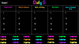 Daily 5 Rotations Chart
