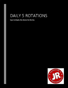 Daily 5 Rotations Signs