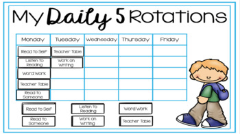 Daily 5 Rotations for GOOGLE DRIVE