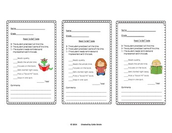 Daily 5 Rubrics Combo Pack - Work-on-Writing and Read-to-Self