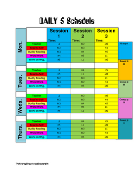 Daily 5 Schedule