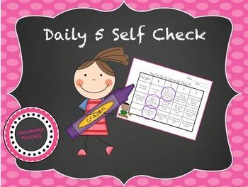 Daily 5 Self Check Rubric