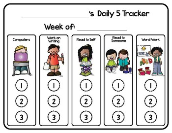 Daily 5 Self Tracker