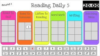 Daily 5 Sign-in With Timer