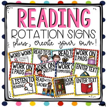 Reading Rotation Signs & Recording Sheet - EDITABLE!