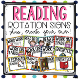 Reading Rotation Signs & Recording Sheet - EDITABLE!