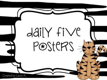 Daily 5 Signs Safari/Jungle themed