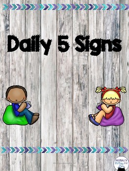 Daily 5 Signs Shabby Chic/Framebouse/Chalkboard