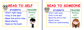 Daily 5 Signs and Icharts - Harry Potter Theme