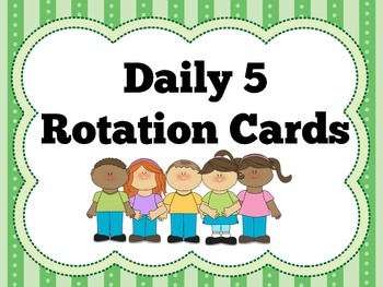 Daily 5 Signs and Rotation Cards