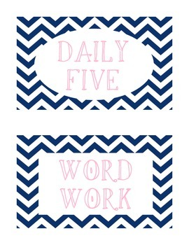 Daily 5 Signs chevron