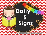 Daily 5 Signs for Balanced Literacy