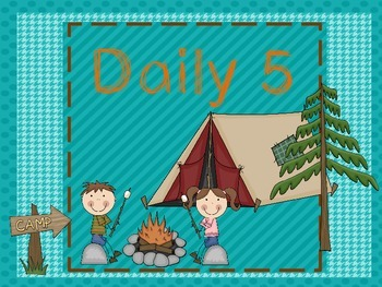 Daily 5 Signs with Camping Theme