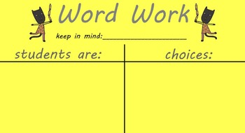 Daily 5 Smartboard Anchor Charts - Blank
