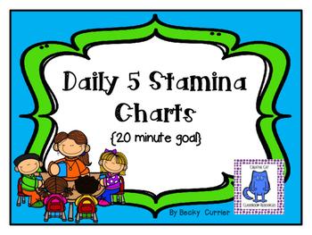 Daily 5 Stamina Charts~ 20 Minute Goal