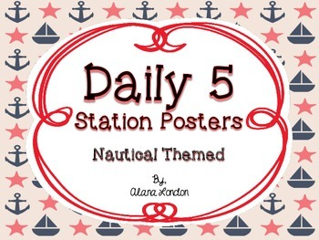 Daily 5 Station Posters: Nautical Themed FREEBIE