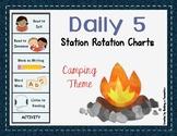 Daily 5 Station Rotation Themed Charts: Camping
