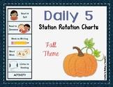 Daily 5 Station Rotation Themed Charts: Fall