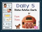Daily 5 Station Rotation Themed Charts: Farm