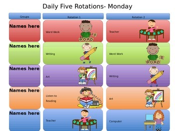 Daily 5 Stations Schedule