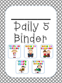 EDITABLE Daily 5 Student Binder