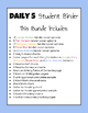 Daily 5 Student Binders BUNDLE