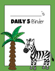 Daily 5 Student Binders (Jungle Animals Version)