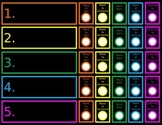 Daily 5 Student Chart Neon Chalkboard Editable Power Point