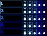 Daily 5 Student Chart Ocean Blues Chalkboard PDF