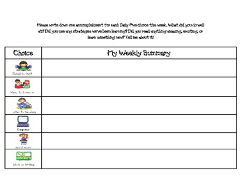 Daily 5 Student Check in Sheet Log Assessment