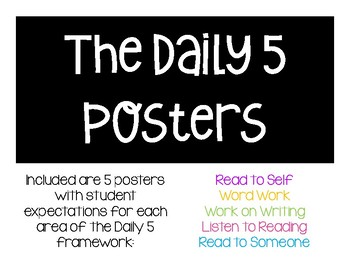 Daily 5 Student Expectation Posters