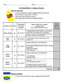 Daily 5 Student Monitoring Must-Do May-Do
