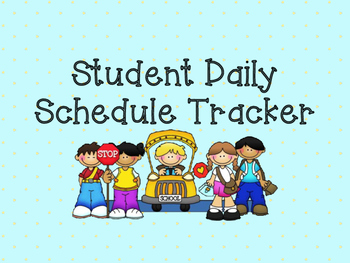Daily 5 Student Schedule Tracker