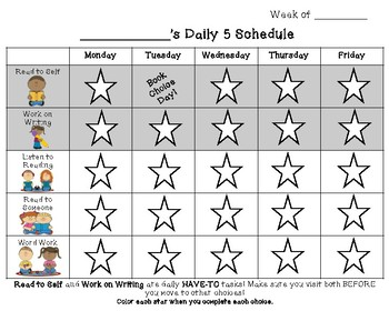 Daily 5 Student Trackers