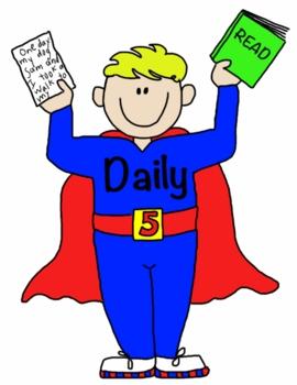 Daily 5 Super Kids-FREEBIE for Bulletin Boards
