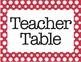 Daily 5 Table Headings Polka dot