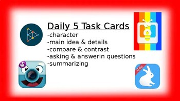 Daily 5 Task Cards (2 levels)