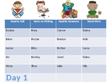 Daily 5 Task Chart