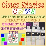 Daily 5, The Literacy CAFE Menu, Strategy Cards & Station Wheel in Spanish