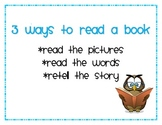 Daily 5 - Three Ways to Read a Book Poster